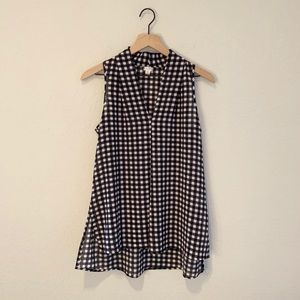 Spenser Sleeveless Plaid Polyester Tunic